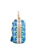 Blue resham thread handcrafted clutch