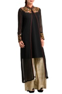 Black jacket with inner & palazzos