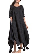 Black stripe asymmetrical dress