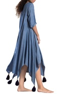 Blue asymmetrical khadi dress