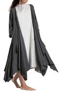 Charcoal grey asymmetrical jacket