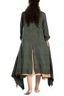 Military green asymmetrical dress
