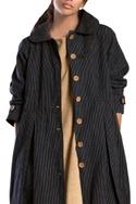 Black striped travel jacket