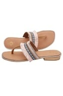 Peach tassel detail sandals
