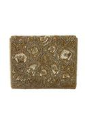 Gold floral scallop flap bag