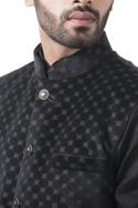 Black velvet nehru jacket set