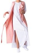 Pale pink poplin grid pattern jacket