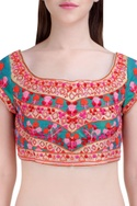 Multicolored floral gota embroidered lehenga set