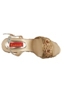Beige 4.5-inch zardozi & bead embroidered wedges