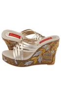 Silver multiple strap wedges