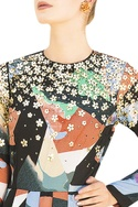 Multicolored full sleeve printed gown