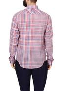 Multicolored check woven handloom cotton shirt