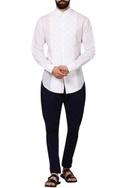 White dobby cotton formal shirt
