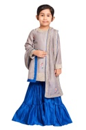 Floral embroidered kurta with dupatta & sharara pants.