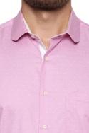 Button down micro pattern shirt