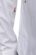 Printed cotton button down shirt