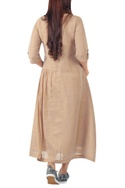 Pleated dress with utility pocket