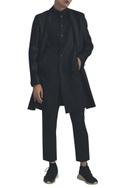 Long jacket with side slit