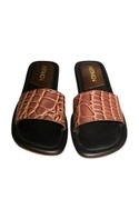 Handcrafted leather luxe sliders