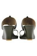 Leather kolhapuri wedge heels
