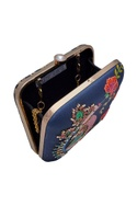 Hand painted square box clutch