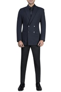 Double breasted jacket with shirt & trousers