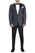 Thread jacket with satin notch lapel tuxedo set