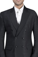 Textured double breasted tuxedeo set