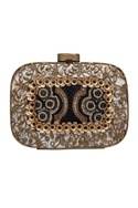 Embroidered clutch with sequin & bead work