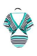 Nautical stripe print bikini set