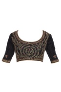Three quarter sleeves embroidered saree blouse