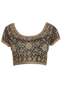 Zardozi embroidered saree blouse with cap sleeves