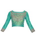Hand embroidered saree blouse