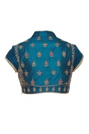 Short embroidered saree blouse