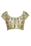 Embroidered saree blouse with back closure