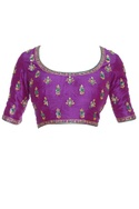 Zardozi embroidered saree blouse