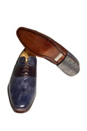 Dual color pure leather brogues