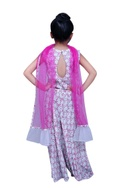 Sequin moon top with palazzo and dupatta