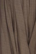 Cowl draped striped pants