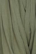 Pleated draped khadi pants