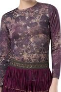 Tassel layered pencil fit skirt