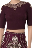Pearl embroidered skirt