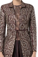 Gota embroidered open jacket