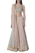 Sequin & lucknowi embroidered lehenga set