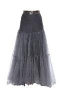 Block print paneled skirt