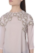 Embroidered frill hem tunic
