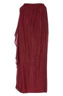 Wrap layered maxi skirt