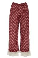 Checkered tassel pants