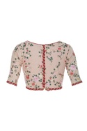 Floral embroidered sari blouse