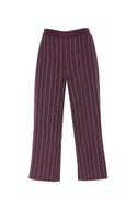 Embroidered linen culottes
